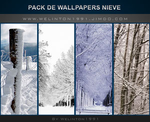 Pack De WallPapers Nieve, photoshop · Diseños · Wallpapers · Packs