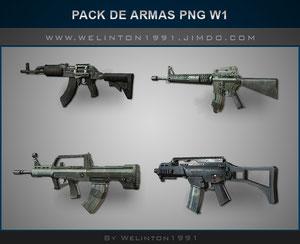 Pack De Armas PNG W1 photoshop · Diseños · Packs · Recursos · PNG · Armas · 32