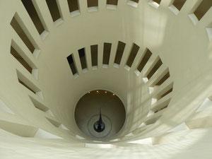 古代美術棟の螺旋階段