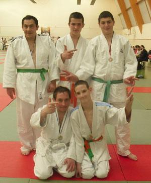 Jean-François; Emilien; Ethane; Ludovic et Kévin