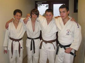 Augustin, Simon, Nicolas et Florian