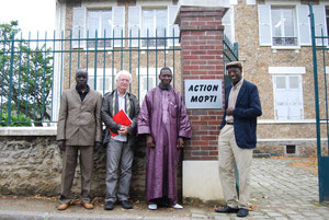 Mr Bathily, Maire de Mopti, Jacques Peguet, président d'AM, Mr Nientao et Mr Ouedraogo