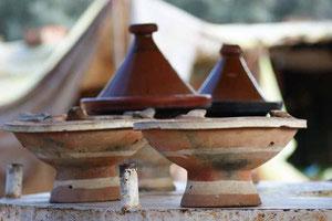 Die traditionellen Tajine Gefässe