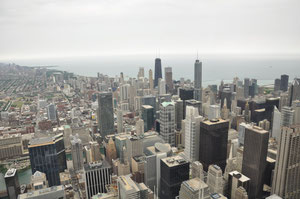 Foto del giorno: veduta dalla Sears Tower - Chicago