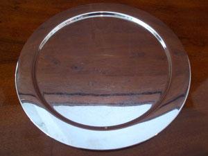 Tablett Sterling rund Silber