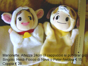 Heidi & Peter marionette peluche