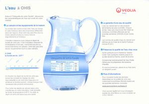 Composition de l'eau du robinet, au gîte du cheval de renfort à OHIS, Thiérache, aisne, Picardie.