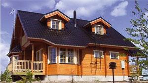 Komfortables, wohngesundes Wohnblockhaus - © Blockhaus Kuusamo