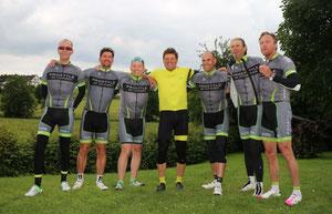 Rennradfahren mit den Champions: Die deutschen Tour de France Stars Jan Ullrich und Andreas Klöden, kurz Ulle und Klödi.