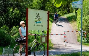 Infotafel am Glan-Blies-Radweg © ADFC