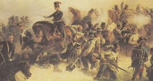 Prinz Friedrich Karl im Gefecht bei Wiesental (Gemälde von Friedrich Kaiser)