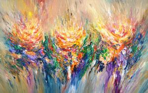 2,4 x 1,5 m: Energy Fields XXXL1,  abstraktes Gemälde