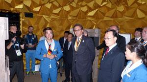 (Im Deutschen Pavillion auf der EXPO 2012 Yeosu Korea, Abteilung Rohstoffe auf und unter dem Meeresboden)