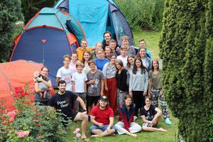 Foto vom großen Jungscharlager 2019 in in Haugsdorf im Weinviertel.