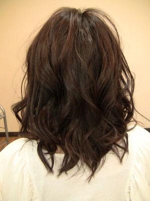 巻き髪ミックスカール