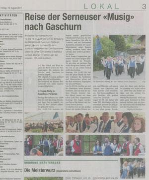 Klosterser Zeitung 19. August 2011