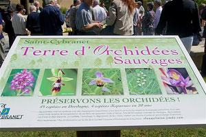 panneau terre d'orchidées à Saint Cybranet 24