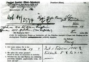 Sammlung Sternberg-Siebert: Behördendokument