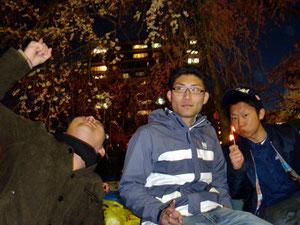 2013.4.13 榴岡公園にて花見