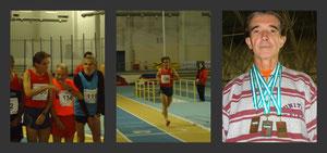 Manuel Lara Buendía en distintos momentos de los compeonatos.