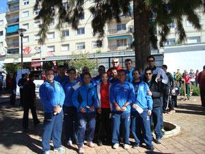 Componentes del Club Maratón Lucena desplazados a la XVI C.P.Aguilar de la Frontera.