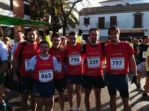 Atletas del Club Maratón Lucena, participantes en la Ruta Carlos III. PINCHA MAS FOTOS