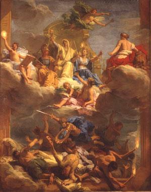 Jean Jouvenet Trionfo della Giustizia 1713