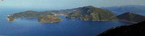 Ithaka hat den schönsten Naturhafen im ionischen Meer, einem beliebten Segelrevier