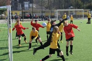TuS E1 im Spiel gegen Sportfreunde Katernberg. - (Foto: svg).