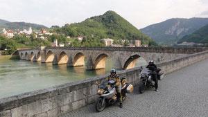 Die alte Brücke von Visegrad