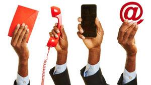 Verschiedenen Kommunikations- und Kundenkontaktpunkte