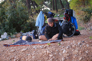 Free camp en Turquie, voyage à vélo en Turquie, bike touring