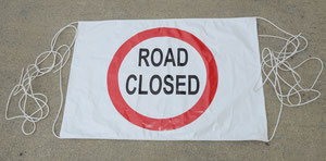Road Closed Banner