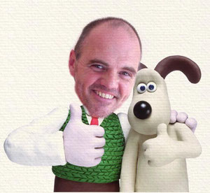 Steve Hartley and Gromit