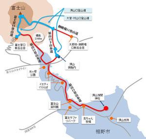 旧須山登山道概略図 クリックで拡大します。