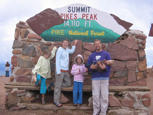 We drove to the top of Pikes Peak with James McDaniel, who is an old friend working with YWAM in Co Springs.
