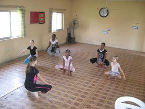 Hannah teaches weekly dance class for the kids and a few adults