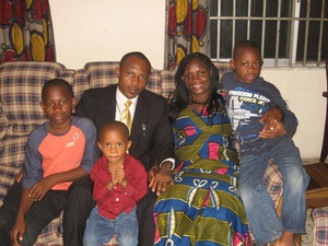 The Rostand Amadi Family - we helped him while he studied at a local university. He received his diploma while we were in the USA.