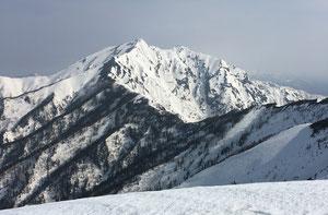 爺が岳中峰から見た鹿島槍ヶ岳