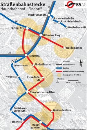 """Mögliche neue """"Findorff-Linie"""" im Detail (Auszug Vortrag Eisenberg, 31. Mai 2012)"""