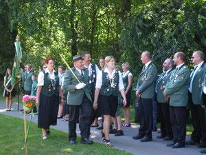 Schützenfest 2012: Abholen der Königin