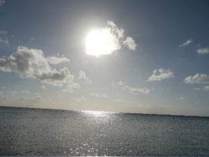 沖縄、海、パパ、子育て