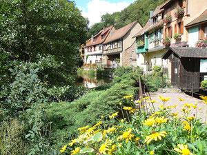 Les bords de la Weiss à Kaysersberg