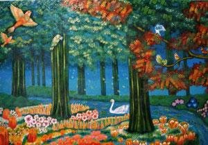 楽園の息吹 絵画 楽園のアート 立花雪 YukiTachibana