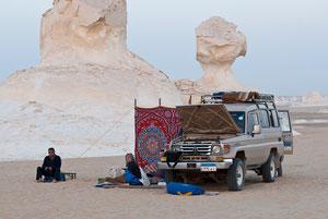 Nachtlager in der Weißen Wüste