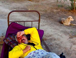 Schlafplatz im Freien