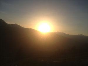 Sonnenuntergang Alp Heimberg Parpan