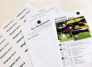 """Wettspielkalender, GuestCheck, Aufkleber """"Mitglied 20.."""""""