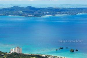名護湾一望 沖縄の風景