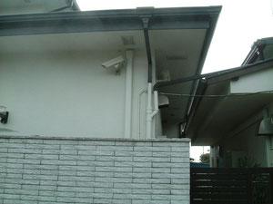 自宅に設置した防犯カメラ